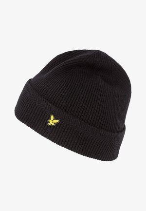 RACKED BEANIE - Huer - true black