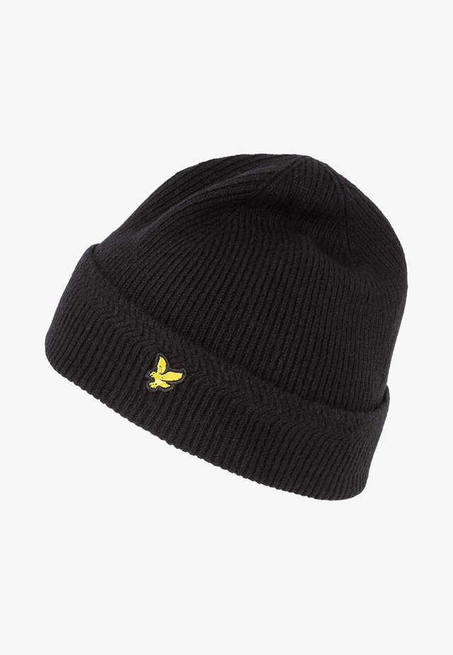 RACKED BEANIE - Čepice - true black