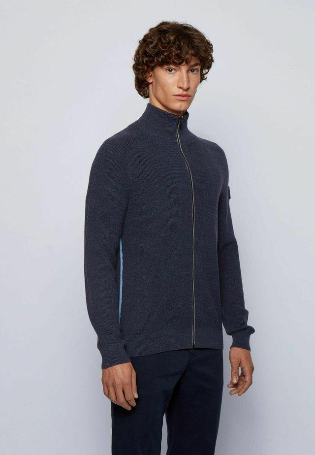 KAMIODENIM - Strickjacke - dark blue