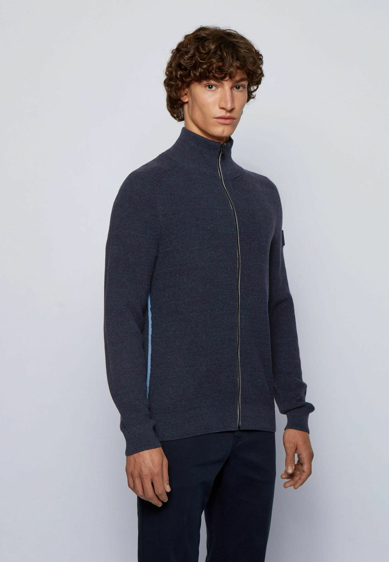BOSS - KAMIODENIM - Cardigan - dark blue
