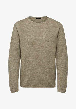 SLHROCKY  - Stickad tröja - brown