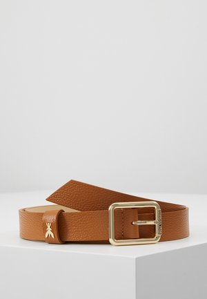 BASIC BELT - Belt - cuoio/gold-coloured