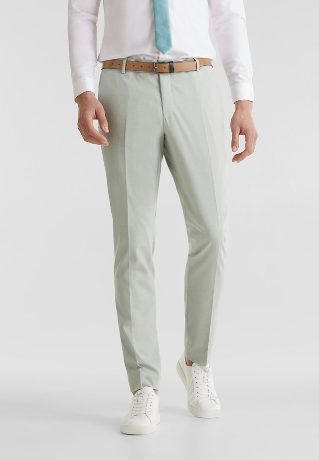 PLAIN SAGE PANTS - Pantalon de costume - pastel green