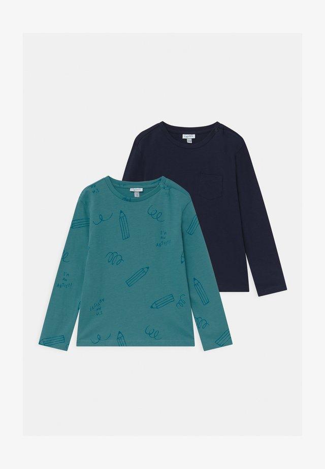 2 Pack - Langarmshirt - colonial blue