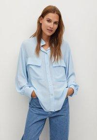 Mango - LIARA - Button-down blouse - bleu - 0
