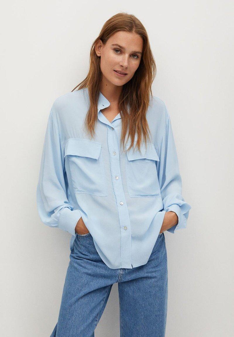 Mango - LIARA - Button-down blouse - bleu