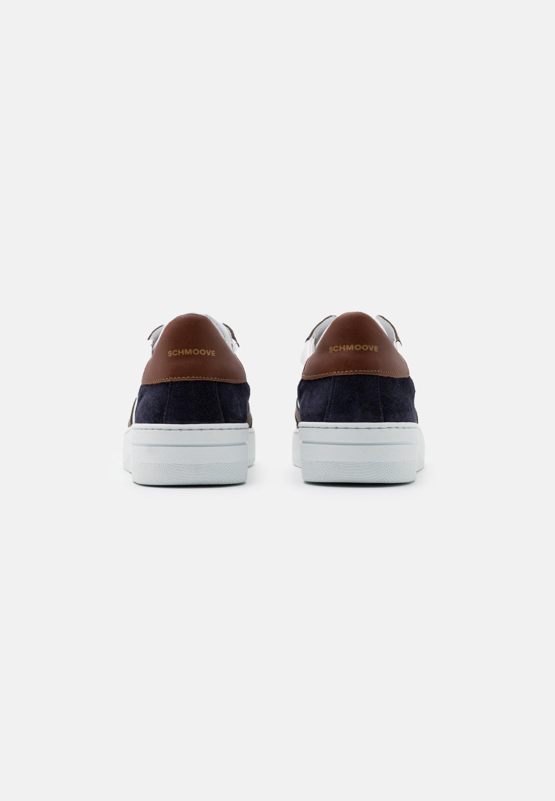 Schmoove EVOC - Sneakers basse - navy/cognac   Scarpe Prezzo Speciale