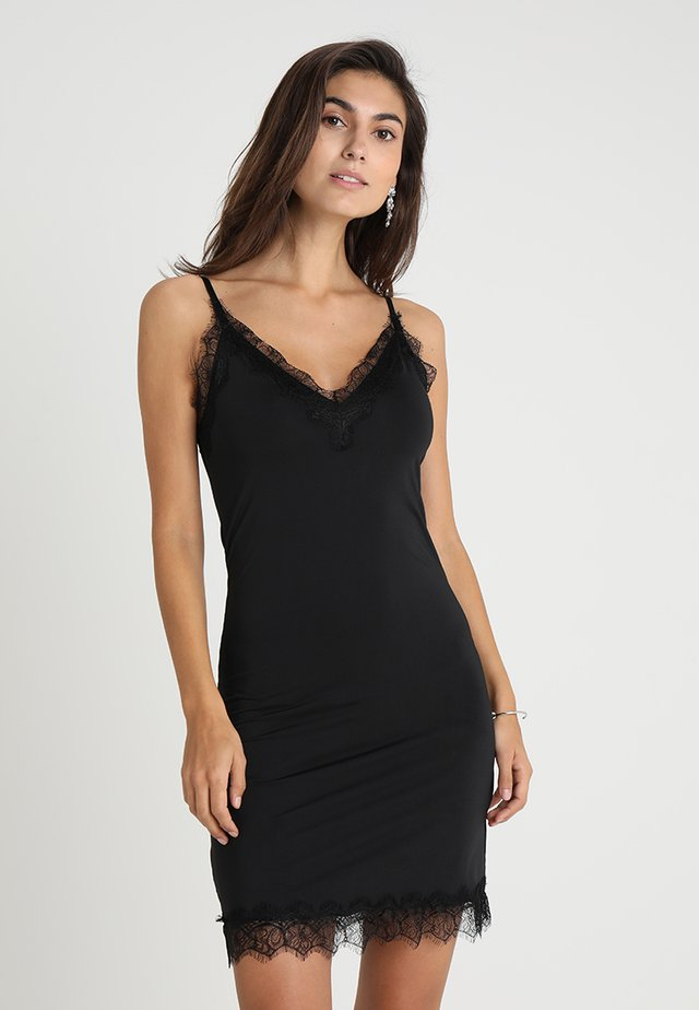 STRAP DRESS - Vestido de cóctel - black