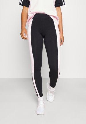 Leggings - black/clear pink