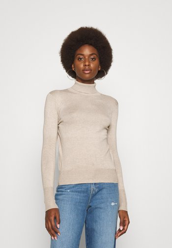 ONLVENICE ROLLNECK - Stickad tröja - whitecap gray