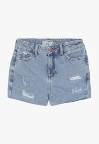 New Look 915 Generation - ANNIE RIPPED MOM SHORT  - Jeans Short / cowboy shorts - blue pattern - 0