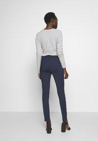 Patrizia Pepe - HIGH WAIST PANT - Trousers - navy - 2
