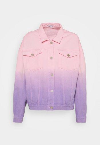 JULIA - Džínová bunda - lilac pink ombre