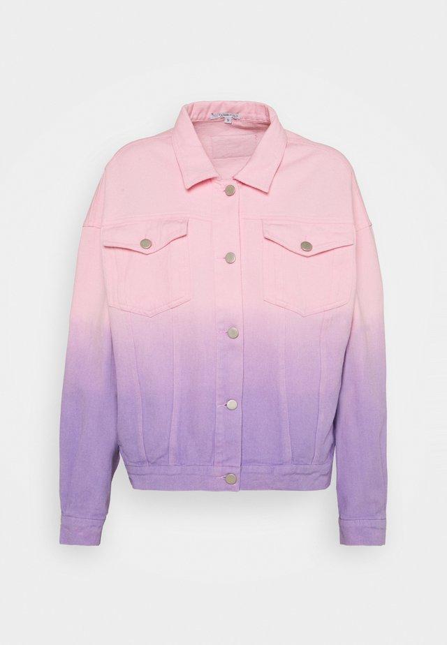 JULIA - Denim jacket - lilac pink ombre