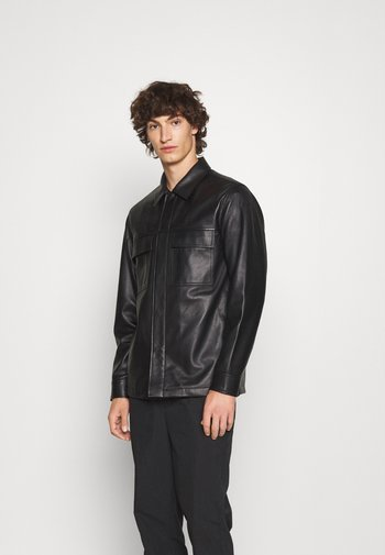 JARED - Leather jacket - black