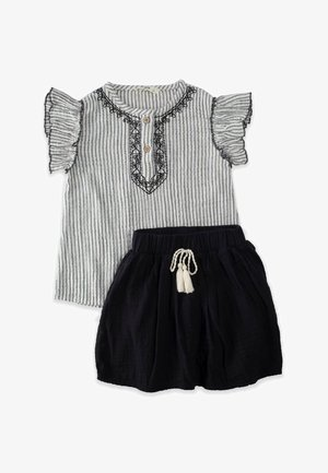 SET - Pleated skirt - stone