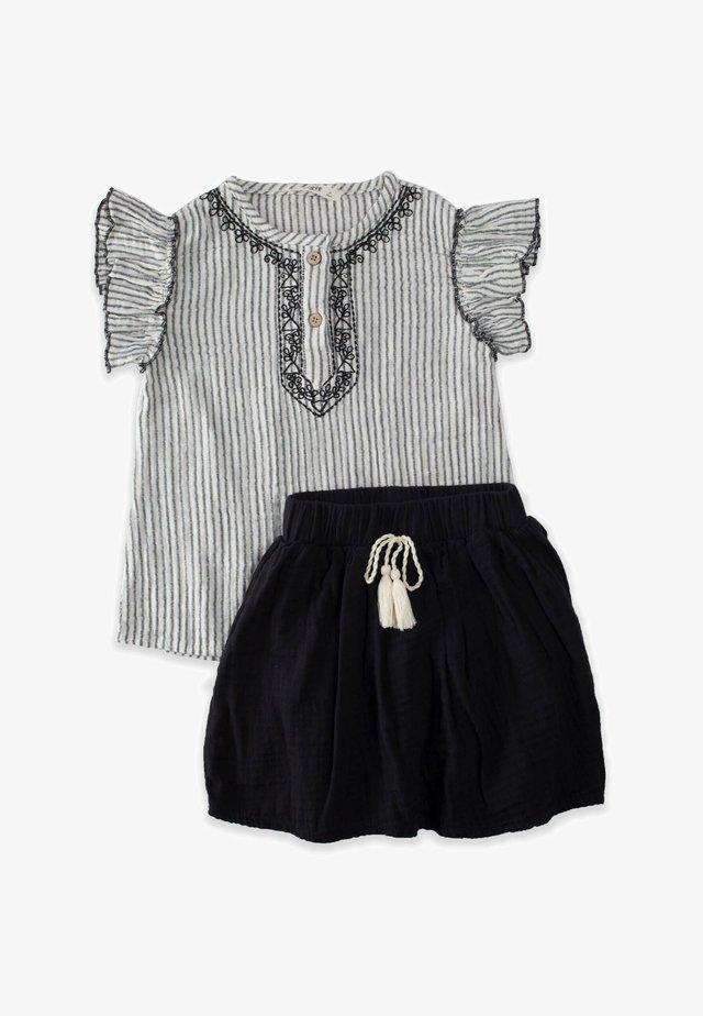 SET - Áčková sukně - stone