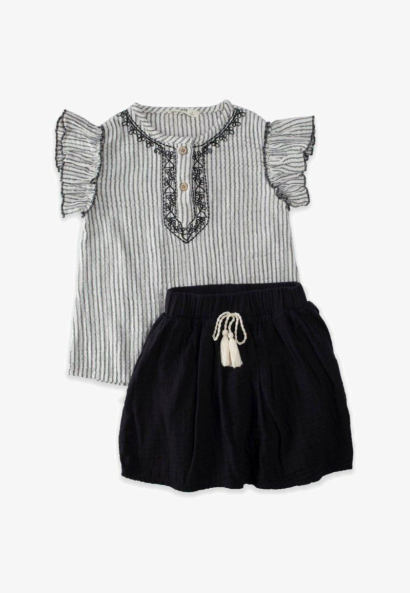 Cigit - SET - Pleated skirt - stone