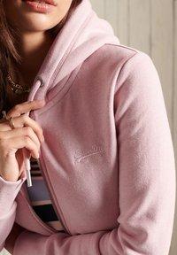 Superdry - ORANGE LABEL - Zip-up sweatshirt - soft pink marl - 1