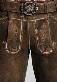Spieth & Wensky - OTTFRIED - Leather trousers - brown - 2