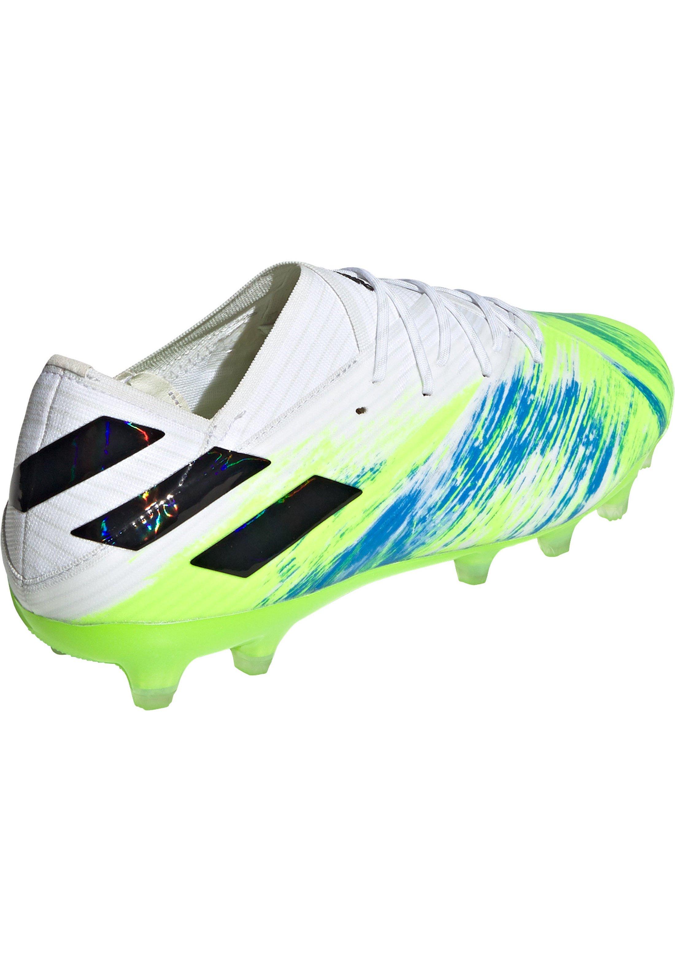 adidas Performance NEMEZIZ 19.1 AG  - Fußballschuh Nocken - footwear white / core black / signal green/weiß - Herrenschuhe sk5us