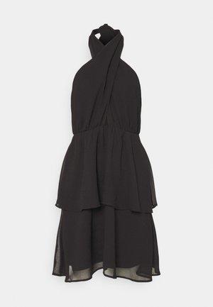 EXCLUSIVE MALVA HALTERNECK DRESS - Vestido de cóctel - black