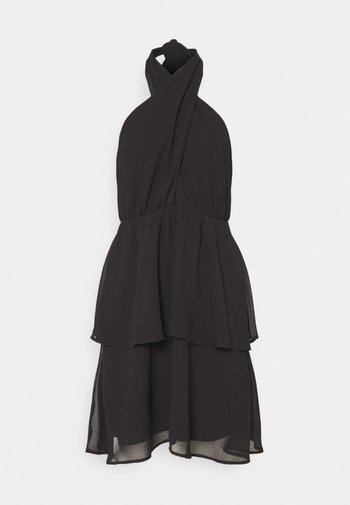 EXCLUSIVE MALVA HALTERNECK DRESS - Koktejlové šaty/ šaty na párty - black