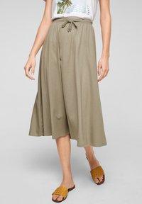 s.Oliver - A-line skirt - summer khaki - 0