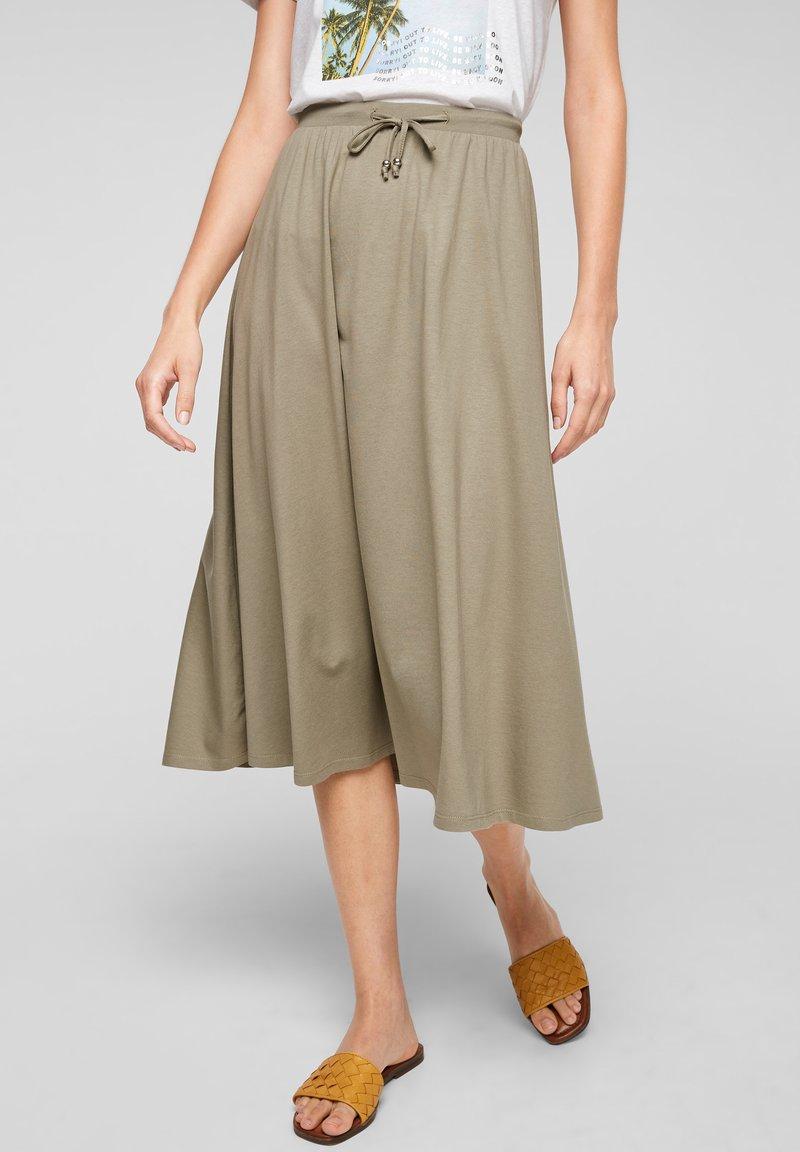 s.Oliver - A-line skirt - summer khaki