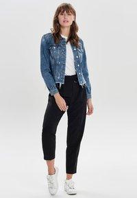 ONLY - DESTROYED - Denim jacket - medium blue denim - 1