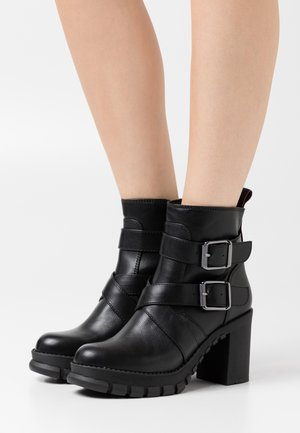 MEIR - High heeled ankle boots - black