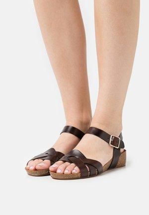 JADE - Wedge sandals - brown