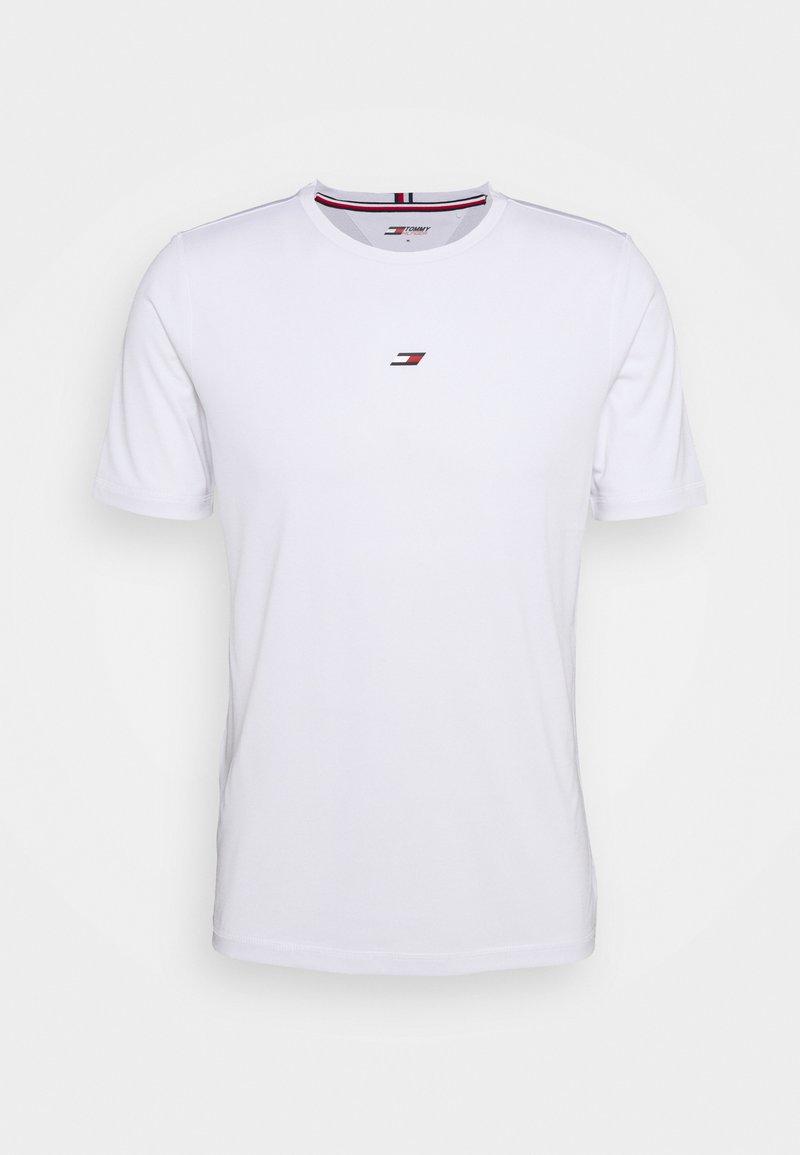 Tommy Hilfiger - MOTION FLAG TRAINING TEE - T-shirt basique - white