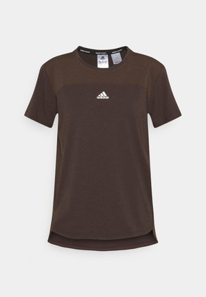 AEROREADY TEE - Basic T-shirt - brown