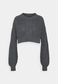 Missguided Petite - CROPPED CABLE JUMPER - Jumper - grey - 0