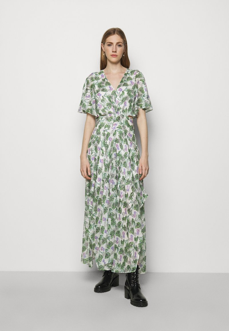 maje - ROCHELLE - Maxi šaty - végétal écru vert