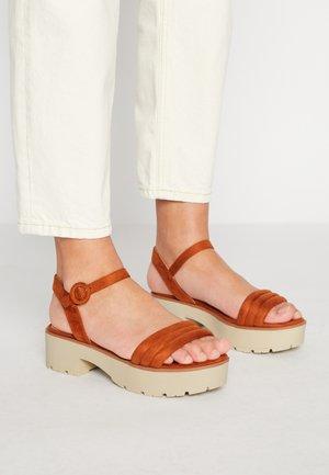 CURIE - Platform sandals - antil teja