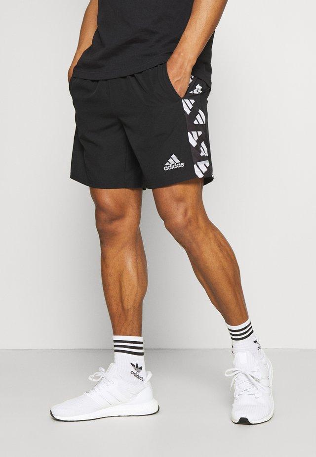 CELEB SHORT - Korte sportsbukser - black/white