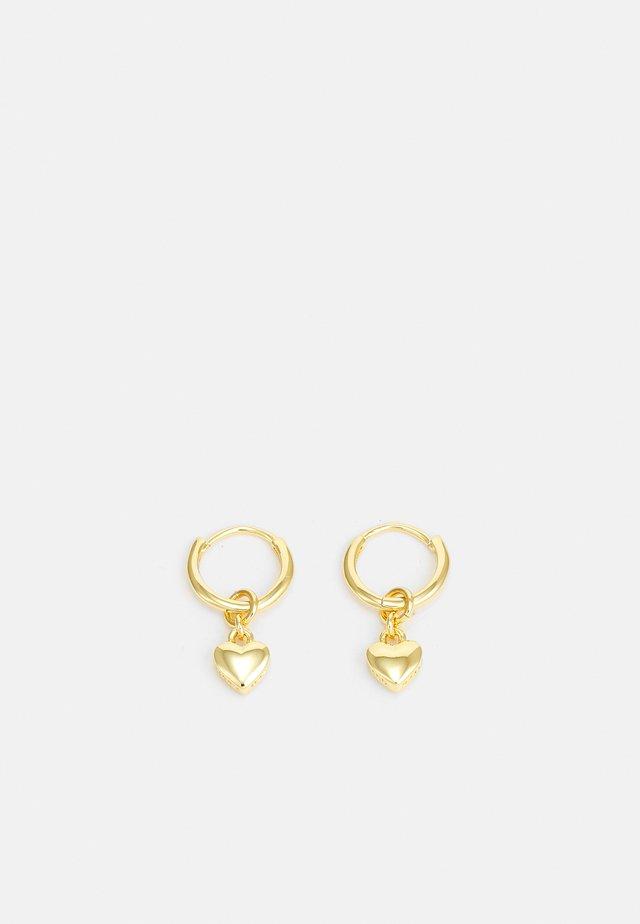 HARRYE TINY HEART HUGGIE EARRING - Örhänge - gold-coloured