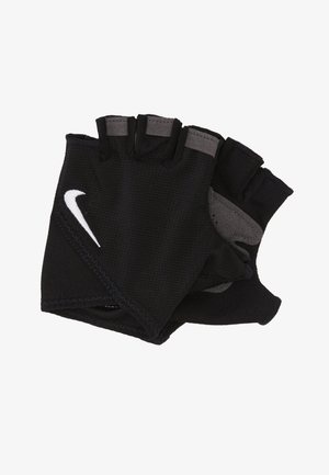 WOMEN'S GYM ESSENTIAL FITNESS GLOVES - Fingerless gloves - black/white