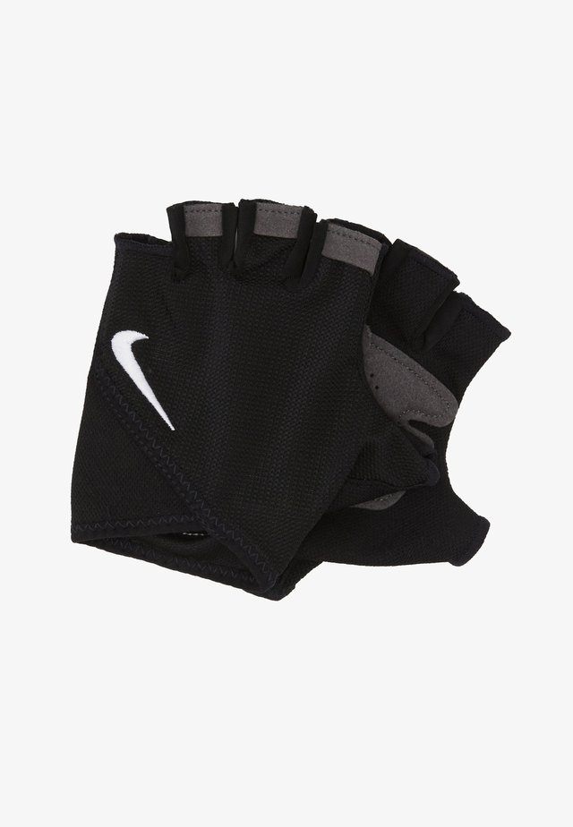 WOMEN'S GYM ESSENTIAL FITNESS GLOVES - Fingerless gloves - black/white