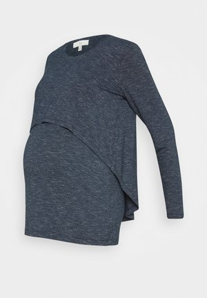 WINTER SWING BACK NURSING - Long sleeved top - denim