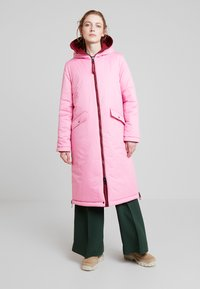Marc O'Polo - BIG PUFFER COAT PADDED REVERSIBLE - Cappotto invernale - light beetroot - 4