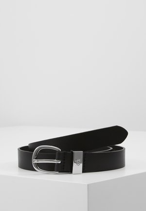 OVAL BUCKLE BELT - Belte - black