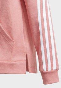 adidas Performance - 3-STRIPES FULL-ZIP HOODIE - Sudadera con cremallera - pink - 4