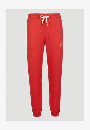 GRAPHIC - Tracksuit bottoms - hot coral