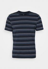 STRIPE TEE - Print T-shirt - navy multi
