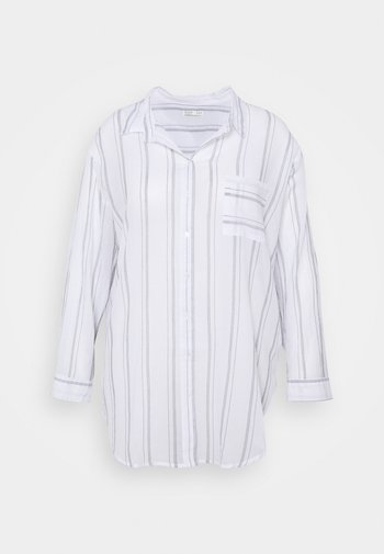 SAVANNAH OVERSIZE SHIRT - Button-down blouse - white