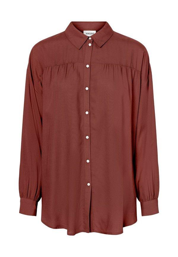 Vero Moda OLUMENÄRMEL - Koszula - sable/ciemnobrązowy MAYJ