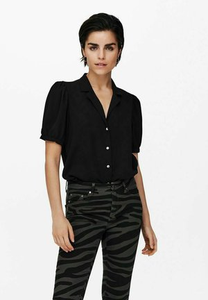 PUFFÄRMEL - Button-down blouse - black